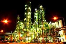 Night view of Chlor-Alkali plant