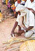 Villagers are taught skills such as basket weaving so they can set up shop
